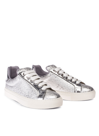 Deery Hakiki Deri Sneakers Gümüş